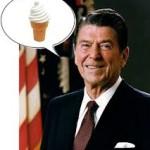 ronald reagon ice cream